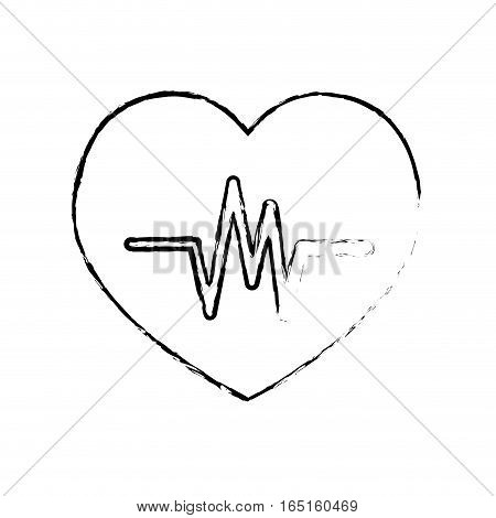 Heartbeat medical healthcare icon vector illustration graphic design