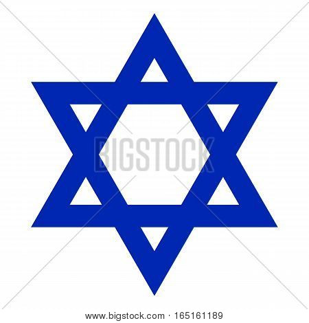 Star of David, Icon vector illustration of a state symbol