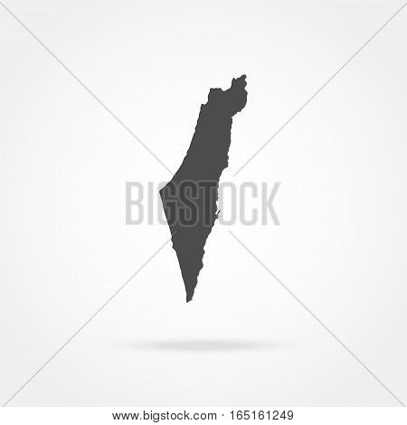 Map Israel vector illustration of a state symbol