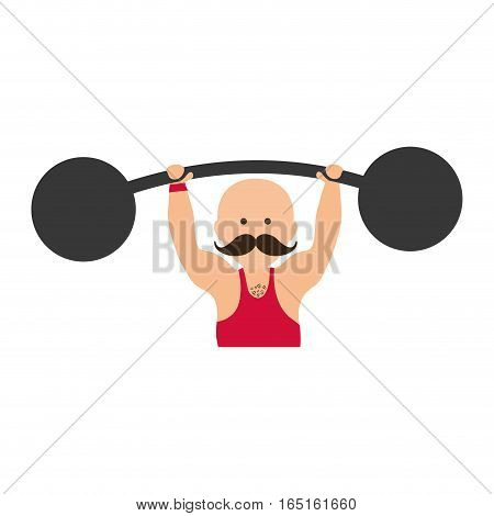 strongman circus cartoon icon vector illustration graphic design