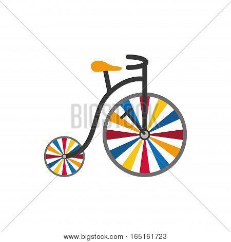 vintage circus bicycle icon vector illustration graphic design