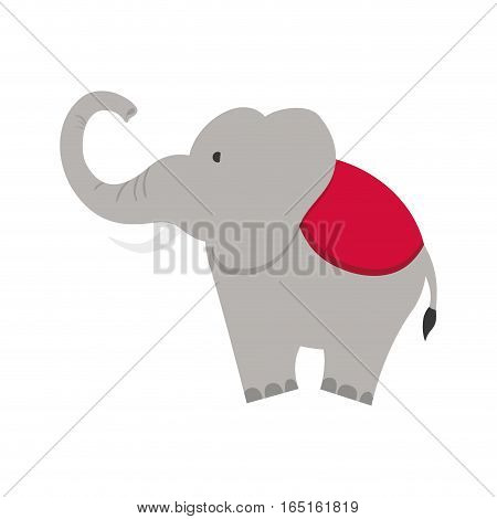circus elephant cartoon icon vector illustration graphic design