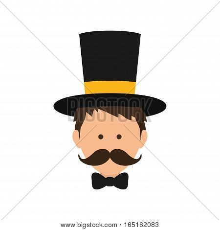 Circus tamer cartoon icon vector illustration graphic design