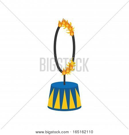 circus fire hoop icon vector illustration graphic design
