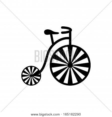 vintage circus bicycle icon vector illustration graphic design