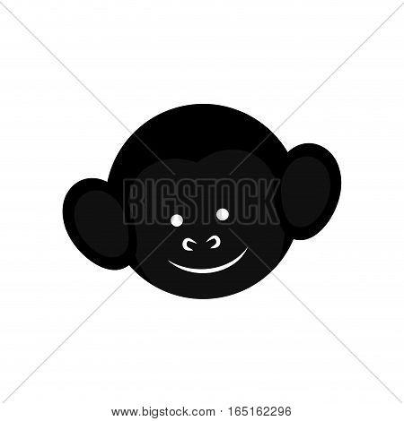 cute mokey cartoon icon vector illustration graphic design