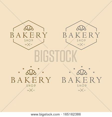 Bakery Logo Design Vintage Retro Style Artsy