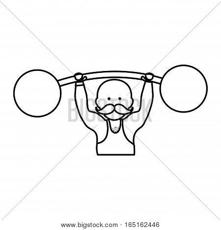strongman circus cartoon icon vector illustration graphic design