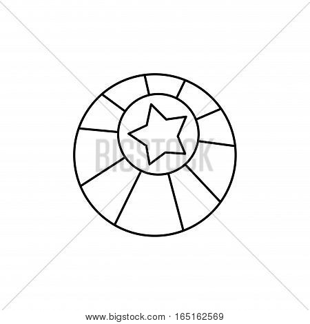 circus ball star icon vector illustration graphic design