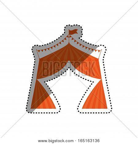 Circus tent festival icon vector illustration graphic design