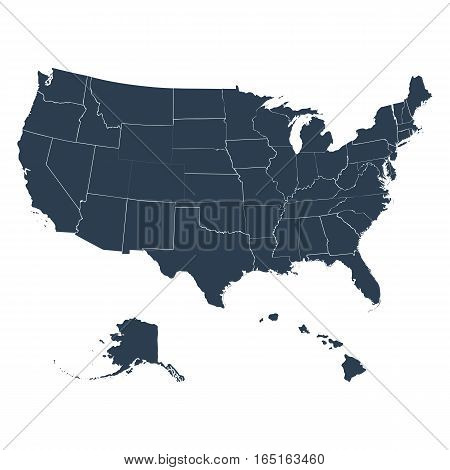 the map of America on a white background vector