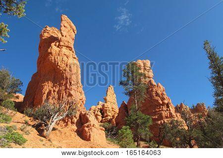 dramatic red rock pillars in Sedona in Arizona