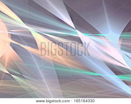 Colourful geometric abstract background - computer-generated image. Fractal art: bright colored lines, curls and shapes. Backdrop for business or technology design projects.