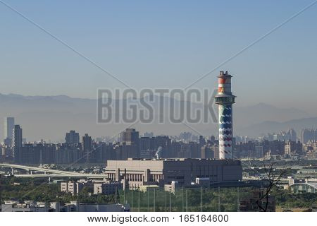 Aerial View Of Taipei Cityscape