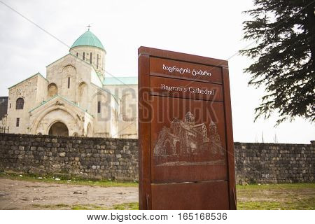 Cathedral of the Dormition or Kutaisi Cathedral more commonly known as Bagrati Cathedral.