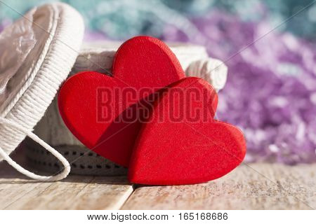 Background or greeting card for the Valentine's Day. Bright colors.