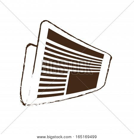 sketch draw newspaper letter news daily vector illustration eps 10