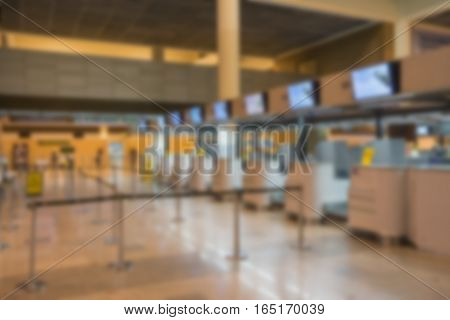 abstract blur of counter check-in airport - can use to display or montage on product
