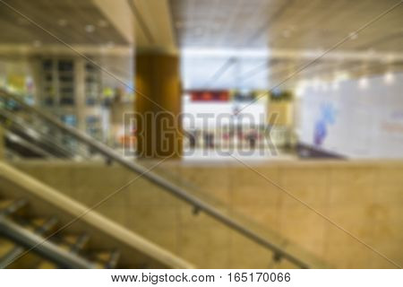 abstract blur of airport immigration building - can use to display or montage on product