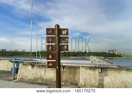 abstract sign in view point and blue sky - can use to display or montage on product