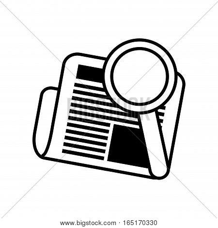 newspaper search letter news daily line vector illustration eps 10