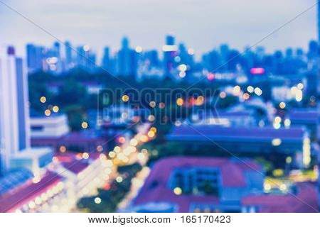 abstract blur bokeh cityscape background - can use to display or montage on product