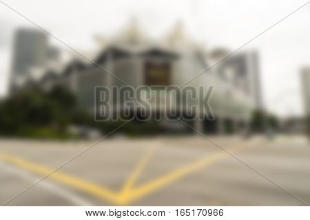 abstract junction and buildind and street on blur background - can use to display or montage on product
