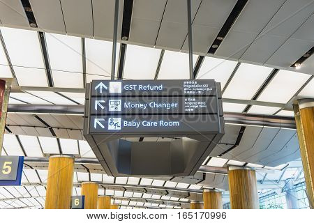 sign information in international airport - can use to display or montage on product