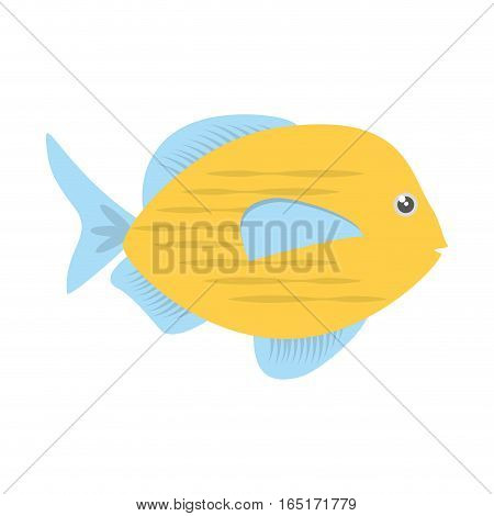 blue and yellow fish variety ocean vector illustration eps 10