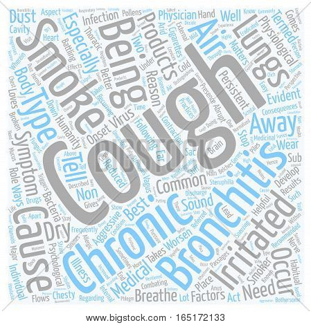 bronchitis chronic cough symptom text background wordcloud concept poster