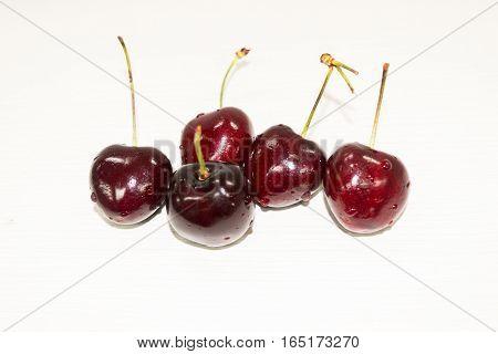 Fruit cherry red Healthy Food Cherries many children