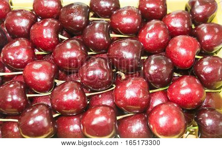 Fruit cherry red Healthy Food Cherries many children