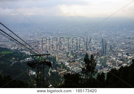 Central Business District,  view from Cerro Monserrate, Bogotá, Colombia