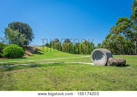 Garden near Brunswick Velodrome in Brunswick, Australia