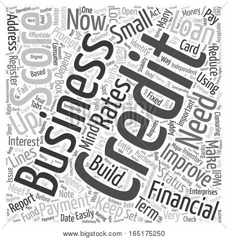 Build Up Your Business Credit Word Cloud Concept