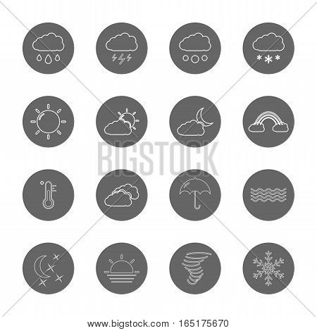 weather thin line icons set,vector Illustration EPS10