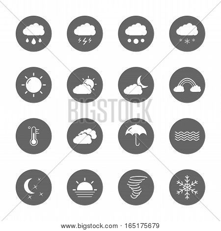 weather icons set,vector graphic design Illustration EPS10