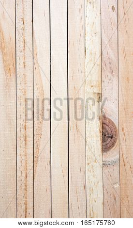 Soft focused picture of natural pattern from Wooden vertical plank brown textures background.