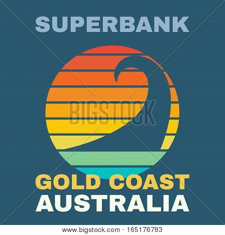Australia surf illustration, vectors, t-shirt graphics illustration