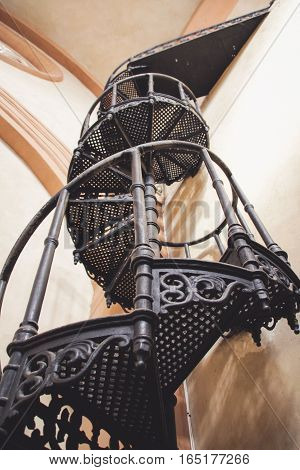 Old Metal Stairway Photograph