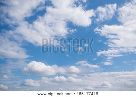 blue sky with clouds for nature background
