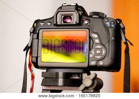 Eflex Camera And Blurred Background