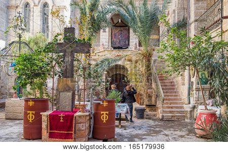 QASR EL YAHUD ISRAEL - JANUARY 06 2017: The Monastery of St Gerasimus. Israel