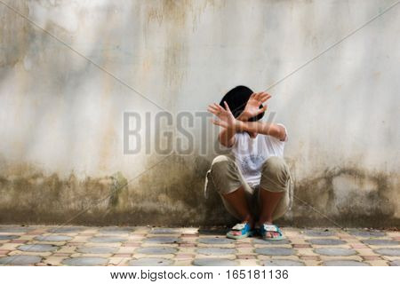 bullying girl teen concept blurry vintage tone