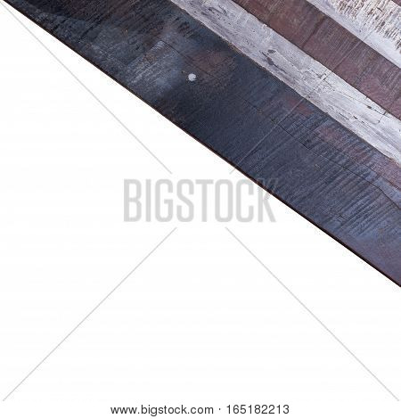 Timber Wood Panel Plank Isolated On White Background