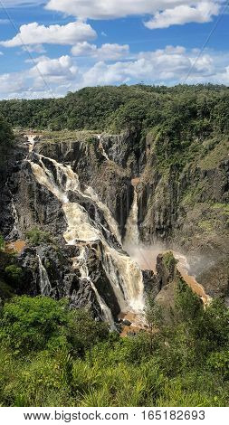 Barron Falls National Park QLD Australia in the wet season