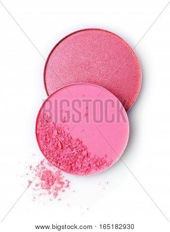 Pink Blush Isolated On White Background