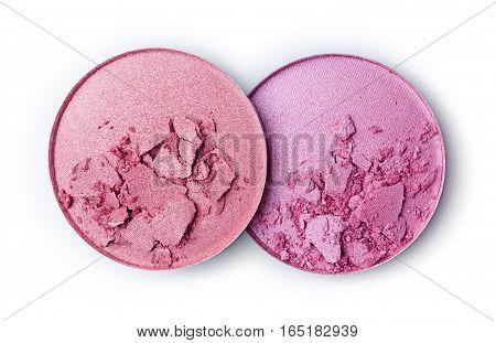 Blush Or Eye Shadow Isolated On White Background