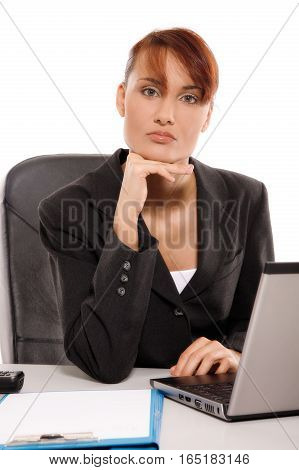 Business woman in the office. Business concept