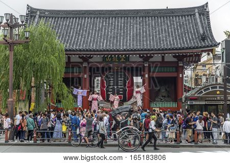 Sensoji Temple In Asakausa, Tokyo, Japan